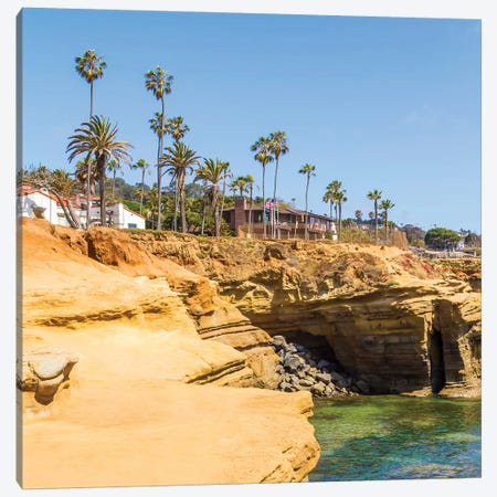 San Diego Gorgeous Sunset Cliffs Canvas Print #MEV494} by Melanie Viola Canvas Art