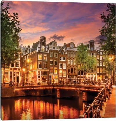 Amsterdam Idyllic Sunset Canvas Art Print