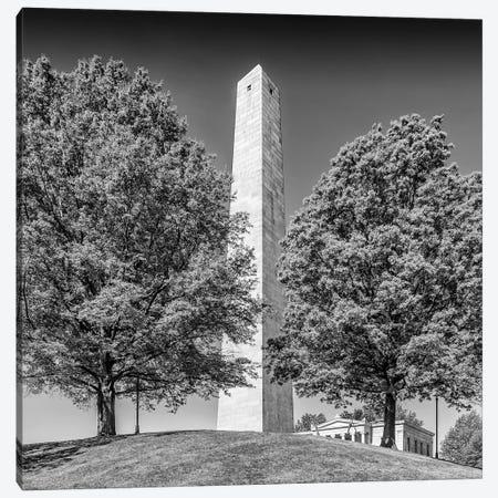 Boston Bunker Hill Monument | Monochrome Canvas Print #MEV498} by Melanie Viola Art Print