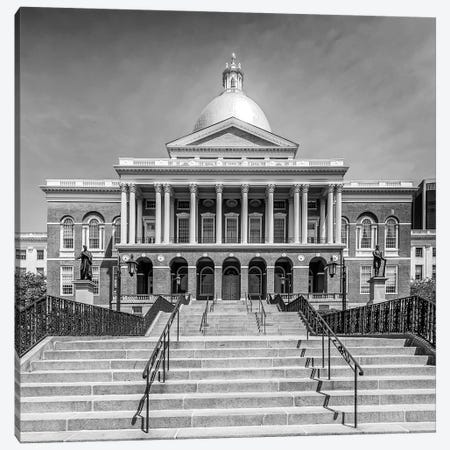 Boston Massachusetts State House | Monochrome Canvas Print #MEV499} by Melanie Viola Canvas Print