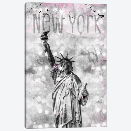 Graphic Art New York City Statue Of Liberty Canvas Print #MEV49} by Melanie Viola Canvas Art