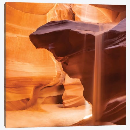 Antelope Canyon Pouring Sand Canvas Print #MEV4} by Melanie Viola Art Print