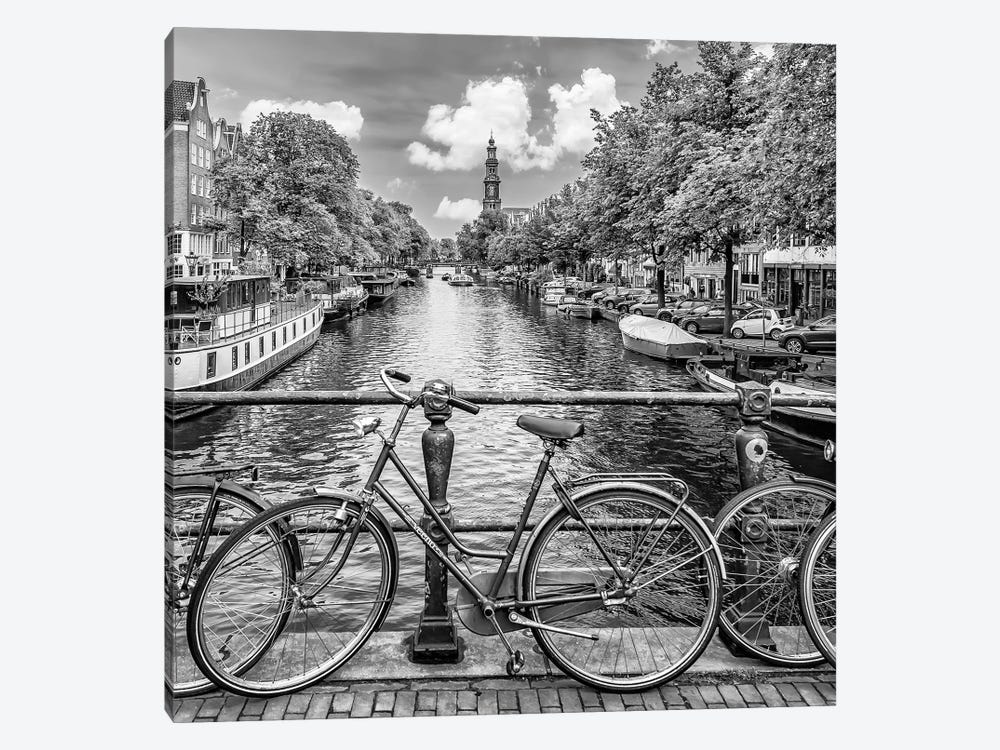 Typical Amsterdam | Monochrome by Melanie Viola 1-piece Art Print