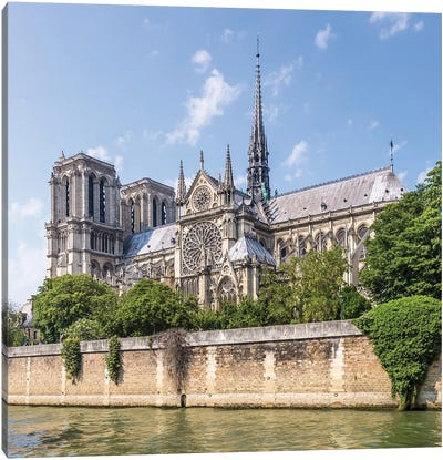 Cathedral Notre-Dame And River Seine Canvas Art Print