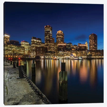 Boston Fan Pier Park View Canvas Print #MEV508} by Melanie Viola Art Print
