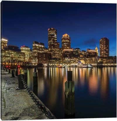 Boston Fan Pier Park View Canvas Art Print