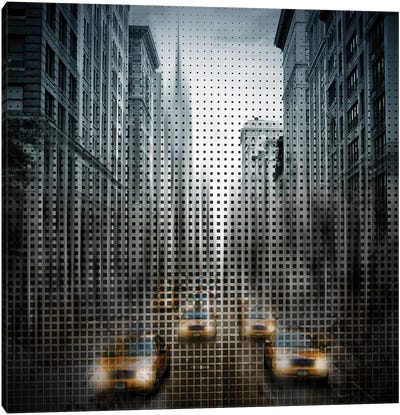 Graphic Art NYC 5Th Avenue Traffic Canvas Art Print