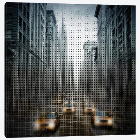 Graphic Art NYC 5Th Avenue Traffic Canvas Print #MEV50} by Melanie Viola Canvas Art Print