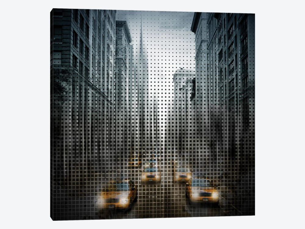 Graphic Art NYC 5Th Avenue Traffic by Melanie Viola 1-piece Canvas Print