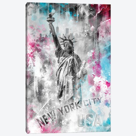 Pop Art Statue Of Liberty Canvas Print #MEV517} by Melanie Viola Canvas Print