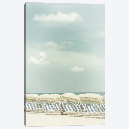Vintage Beach Scene Canvas Print #MEV518} by Melanie Viola Canvas Wall Art