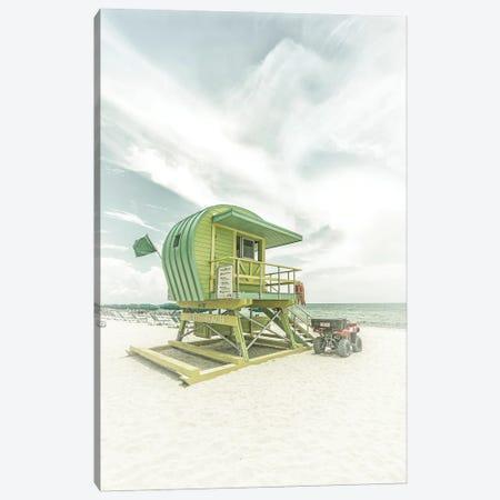Vintage Florida Flair At Miami Beach Canvas Print #MEV519} by Melanie Viola Canvas Art