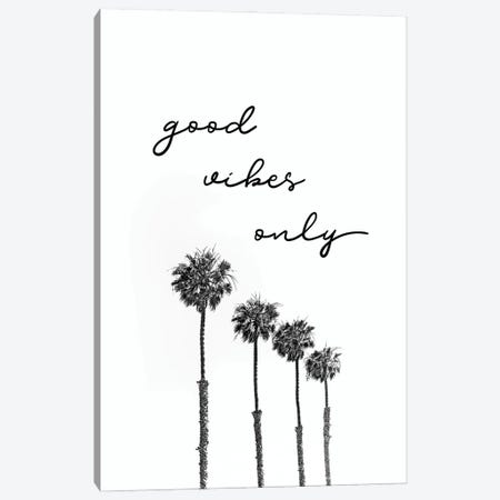 Palm Trees | Good Vibes Only Canvas Print #MEV523} by Melanie Viola Art Print