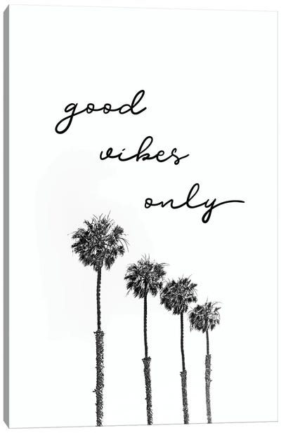 Palm Trees | Good Vibes Only Canvas Art Print