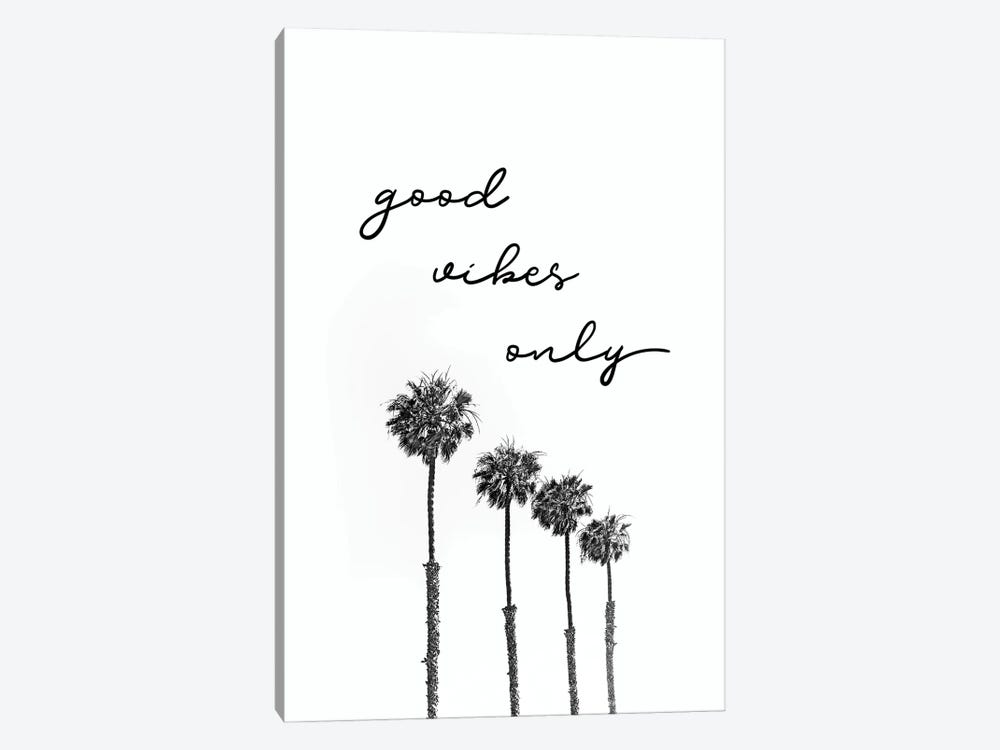 Palm Trees | Good Vibes Only 1-piece Canvas Print