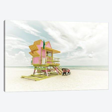 Miami Beach Vintage Florida Flair Canvas Print #MEV524} by Melanie Viola Canvas Art