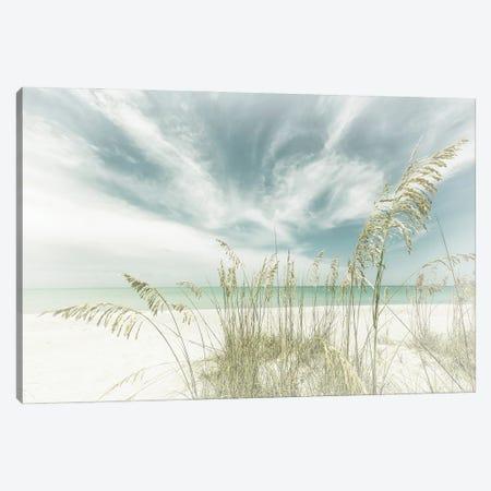 Heavenly Calmness On The Beach | Vintage Canvas Print #MEV525} by Melanie Viola Canvas Wall Art