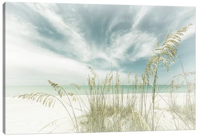 Heavenly Calmness On The Beach | Vintage Canvas Art Print