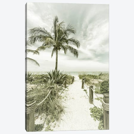 Path To The Beach | Vintage Canvas Print #MEV526} by Melanie Viola Canvas Artwork