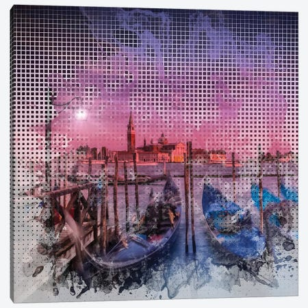 Graphic Art Venice Gorgeous Sunset Canvas Print #MEV52} by Melanie Viola Canvas Print