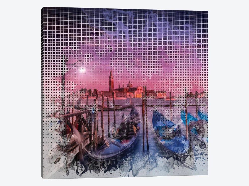 Graphic Art Venice Gorgeous Sunset by Melanie Viola 1-piece Canvas Print