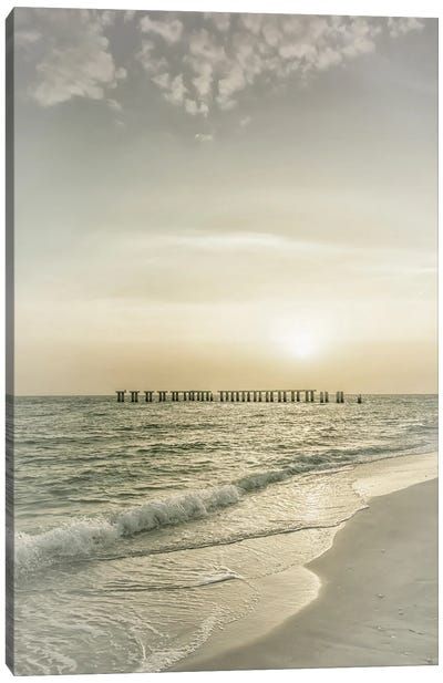 Gasparilla Island Sunset | Vintage Canvas Art Print
