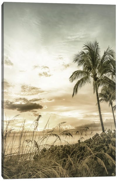 Bonita Beach Bright Sunset | Vintage Canvas Art Print
