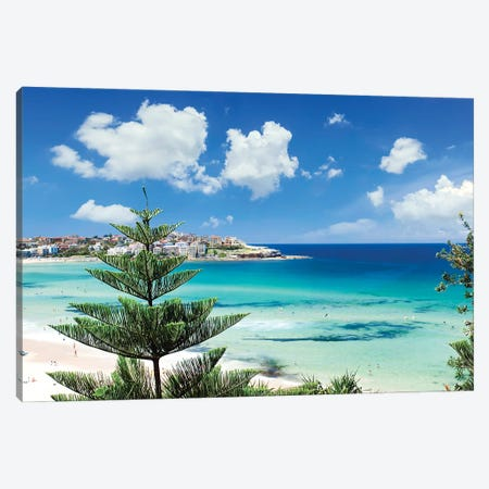 Sydney Bondi Beach Canvas Print #MEV546} by Melanie Viola Canvas Wall Art