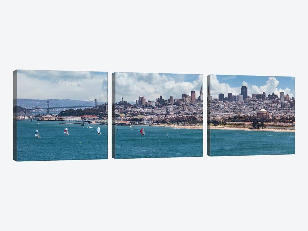San Francisco Skyline by Melanie Viola 3-piece Canvas Print