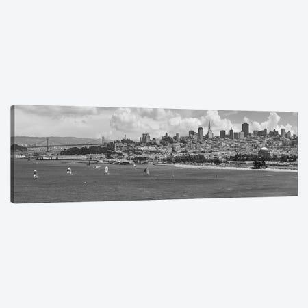 San Francisco Skyline | Monochrome Canvas Print #MEV551} by Melanie Viola Canvas Art