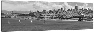 San Francisco Skyline   Monochrome Canvas Art Print