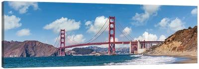 Golden Gate Bridge Baker Beach Panoramic View Canvas Art Print