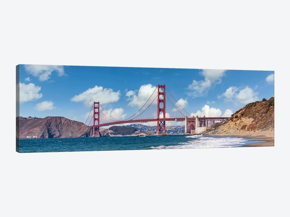 Golden Gate Bridge Baker Beach Panoramic View by Melanie Viola 1-piece Canvas Print