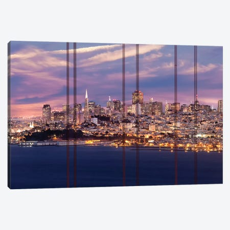 San Francisco Evening Skyline Canvas Print #MEV554} by Melanie Viola Art Print