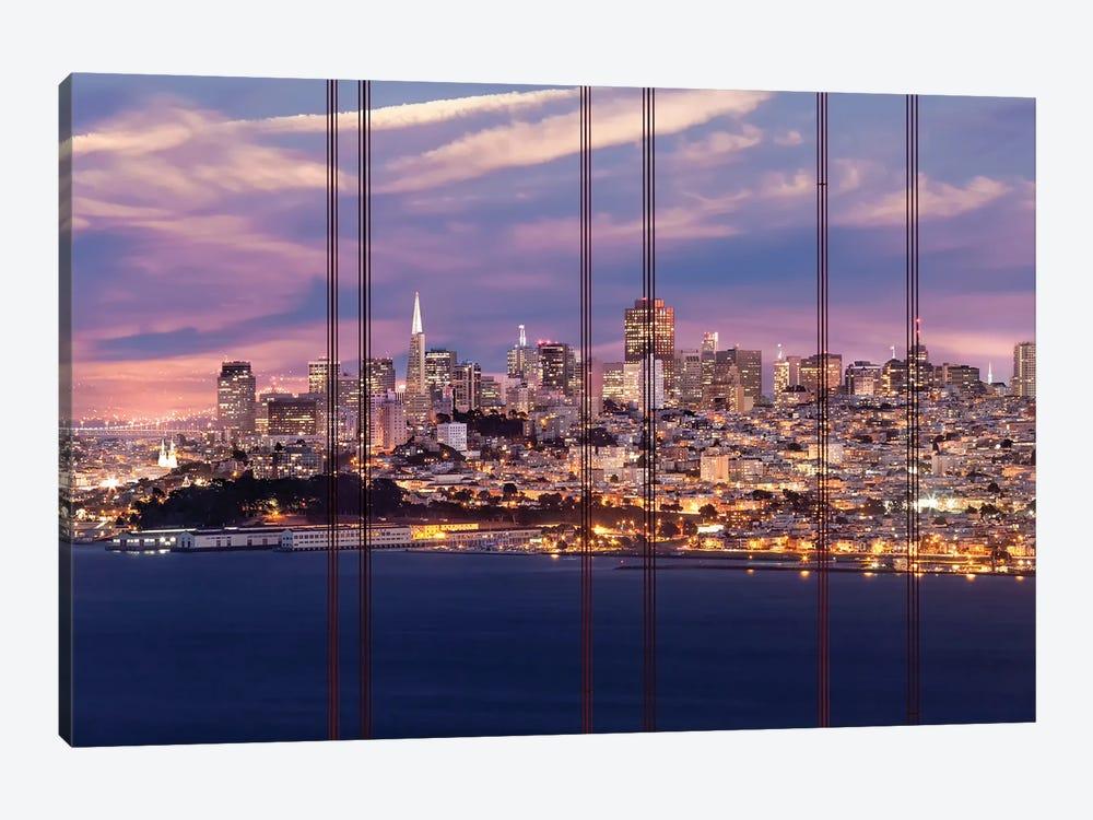 San Francisco Evening Skyline by Melanie Viola 1-piece Canvas Art Print