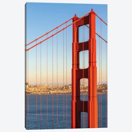 San Francisco Golden Gate Bridge And Skyline Canvas Print #MEV555} by Melanie Viola Canvas Art Print