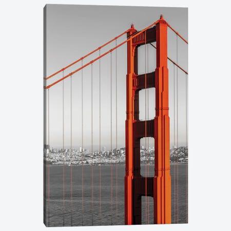 San Francisco Golden Gate Bridge And Skyline | Colorkey Canvas Print #MEV556} by Melanie Viola Canvas Print