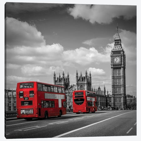 Typical London Canvas Print #MEV559} by Melanie Viola Canvas Wall Art