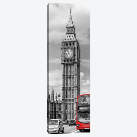 Elizabeth Tower | Vertical Panorama Canvas Print #MEV560} by Melanie Viola Canvas Print