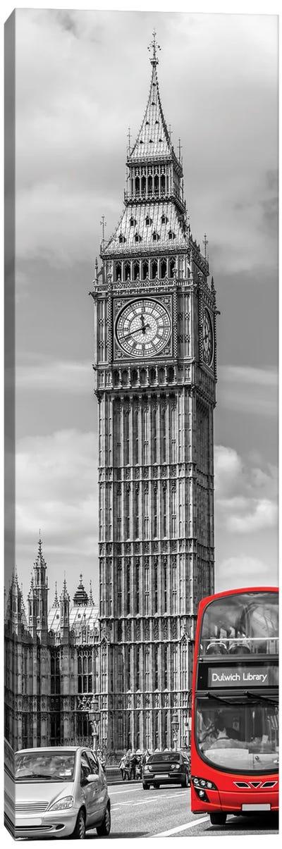 Elizabeth Tower   Vertical Panorama Canvas Art Print