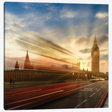 Westminster Evening Mood Canvas Print #MEV561} by Melanie Viola Art Print