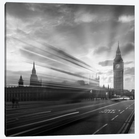Westminster Evening Mood   Monochrome Canvas Print #MEV562} by Melanie Viola Canvas Print