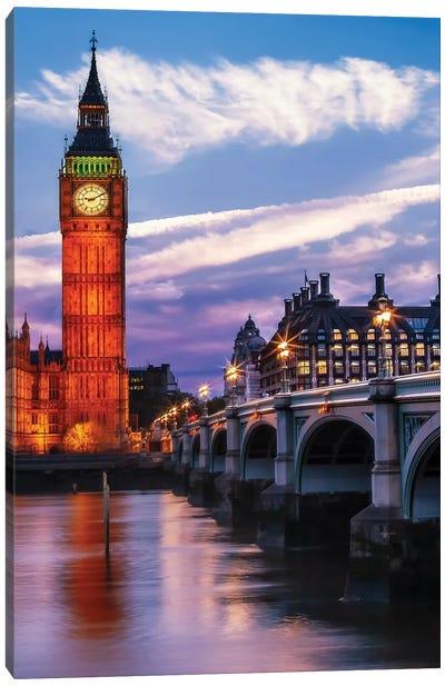 Evening At Westminster Bridge Canvas Art Print