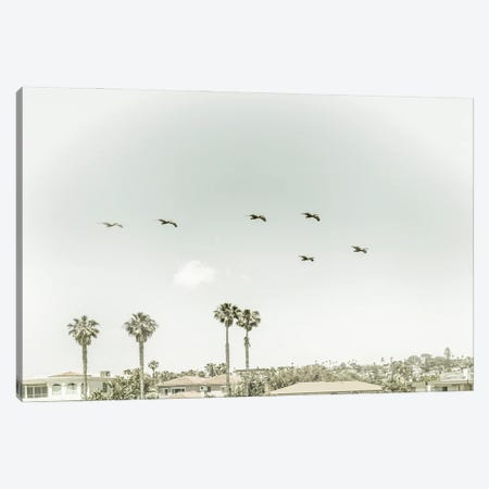 Above The Rooftops Of San Diego | Vintage Canvas Print #MEV571} by Melanie Viola Canvas Art