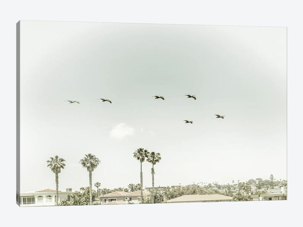 Above The Rooftops Of San Diego | Vintage by Melanie Viola 1-piece Canvas Art