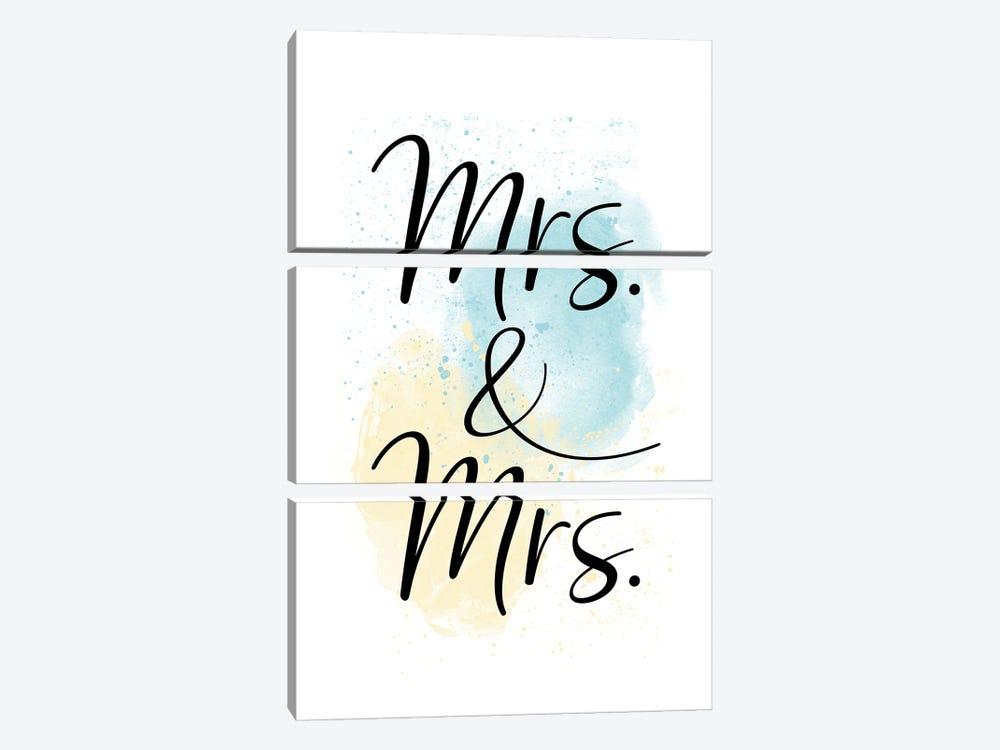 Mrs. & Mrs. by Melanie Viola 3-piece Canvas Art