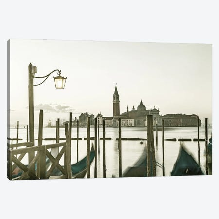 Venice Gondolas In The Early Morning Canvas Print #MEV579} by Melanie Viola Canvas Artwork