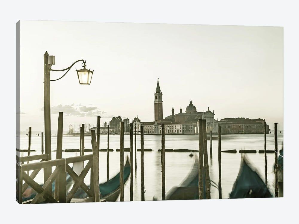 Venice Gondolas In The Early Morning by Melanie Viola 1-piece Canvas Artwork