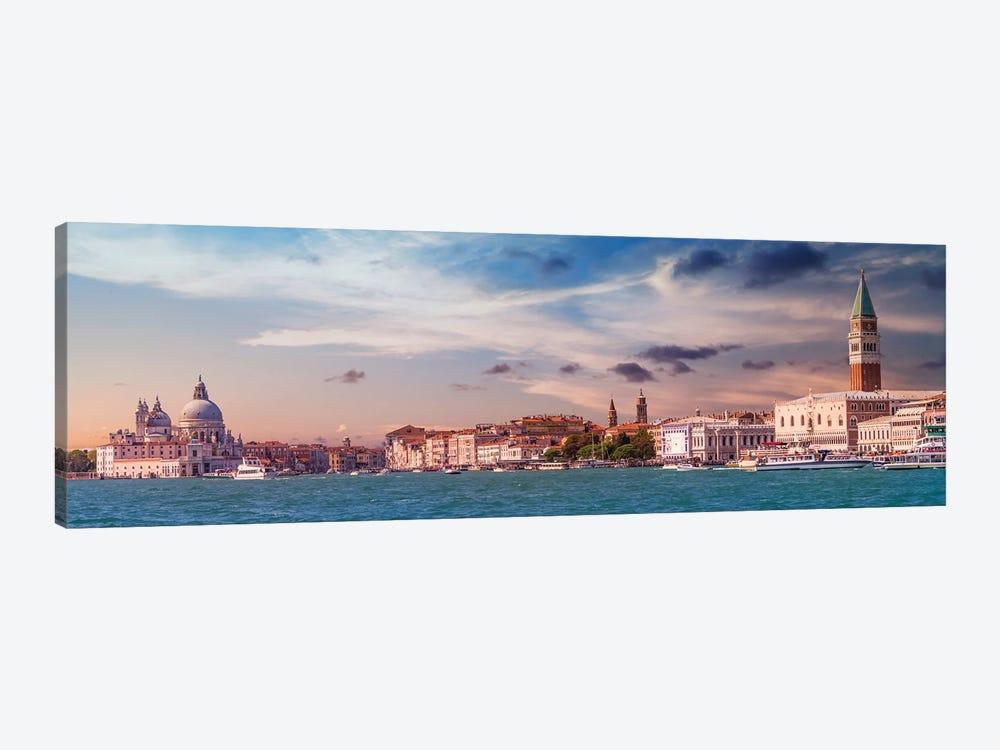 Venice Idyllic Evening Impression by Melanie Viola 1-piece Canvas Wall Art