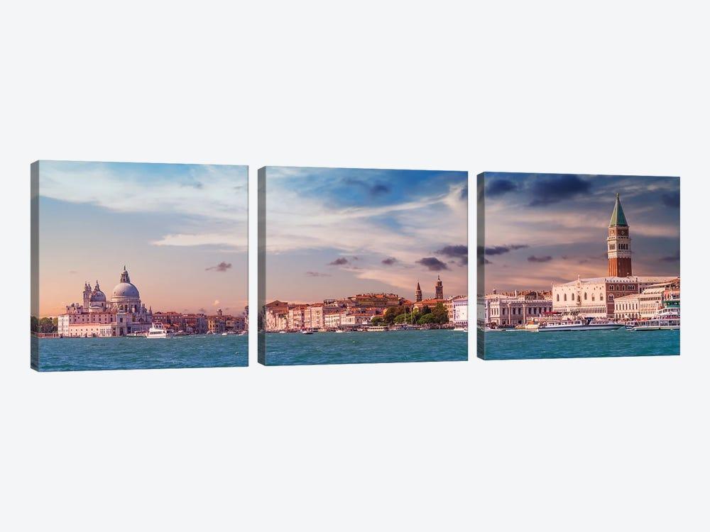 Venice Idyllic Evening Impression by Melanie Viola 3-piece Canvas Wall Art